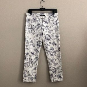 Isabel Marant floral print cropped Capri pants